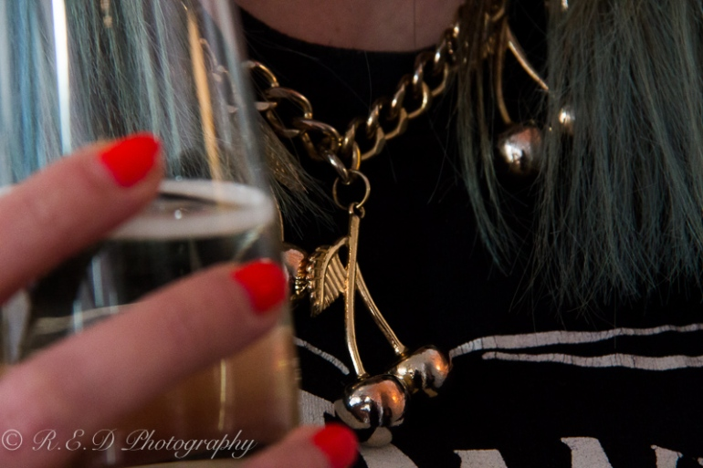 topshop cherry necklace