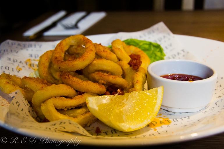 travellers rest spicy calamari