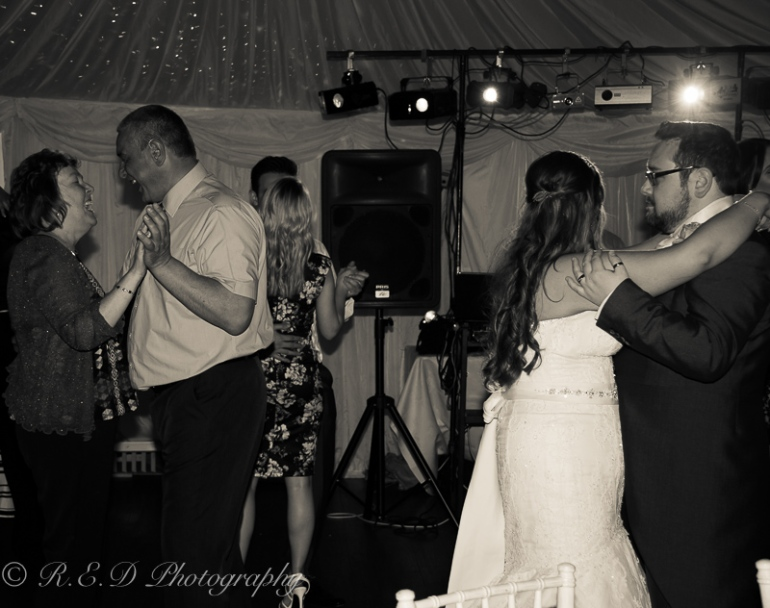 black and white wedding photography dancing