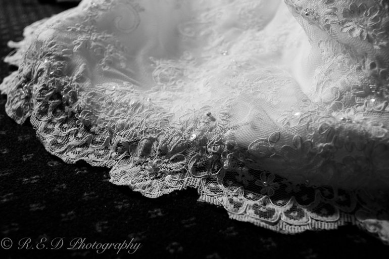 black and white wedding photography dress details