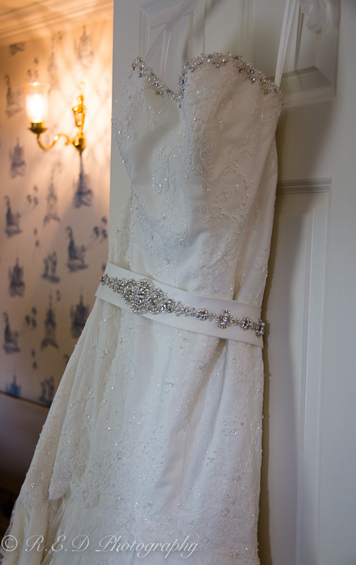 wedding photography bride's dress
