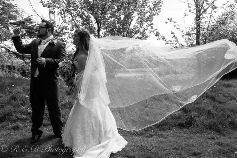 wedding photography bride veil