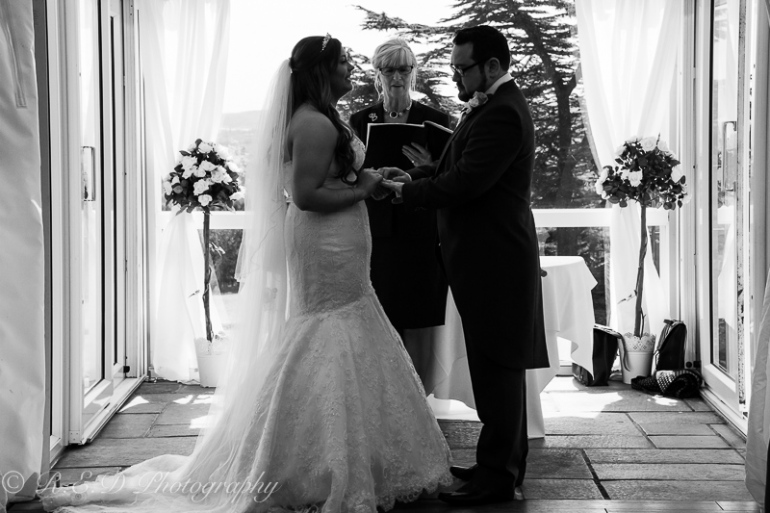 black and white wedding photography bride and groom vows