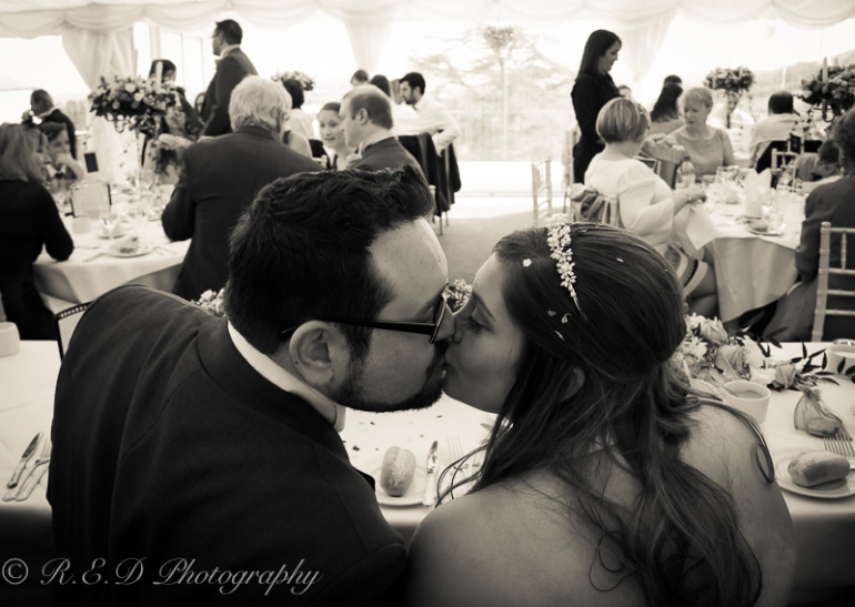 wedding photography marquee dinner
