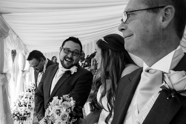 black and white wedding photography father of the bride