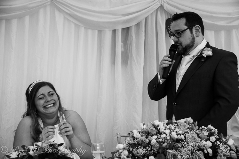 black and white wedding photography groom speech