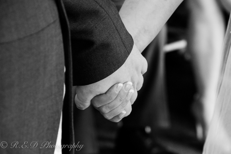 black and white wedding photography holding hands
