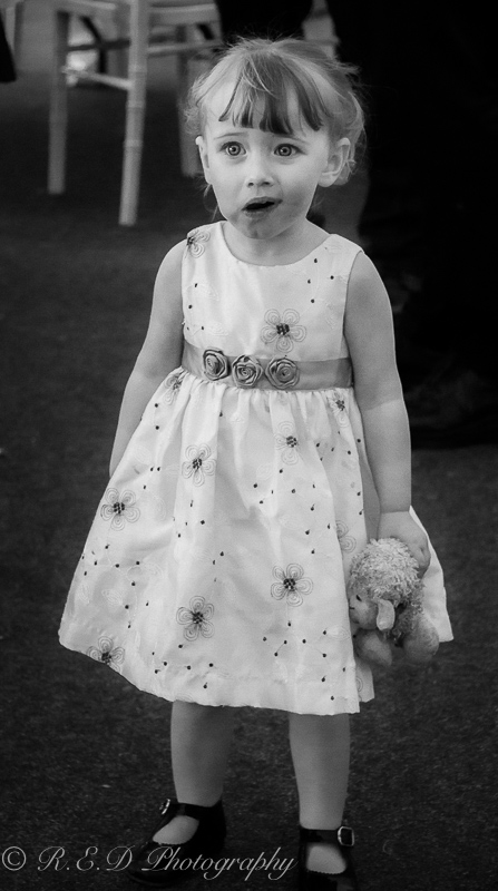 black and white wedding photography little wedding guest
