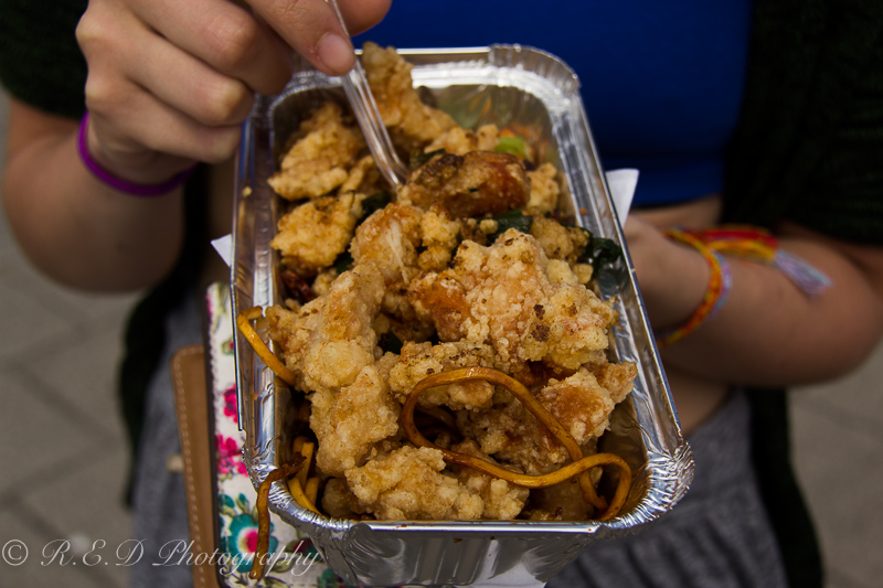 Cardiff Food Festival 2015 salt and pepper chicken and noodles