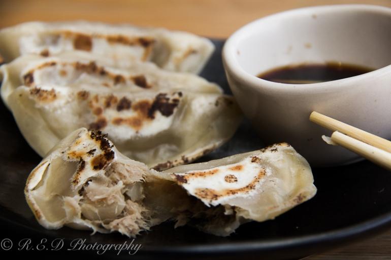 wagamama food porn steamed pulled pork gyoza