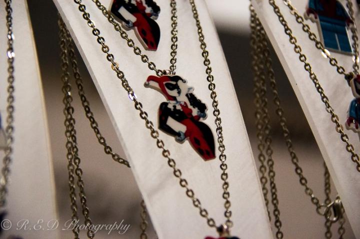 geekedfest 2015 HMBM harley quinn jewellery fashion accessory