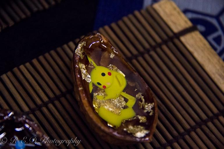 geekedfest 2015 pikachu cherry slug art