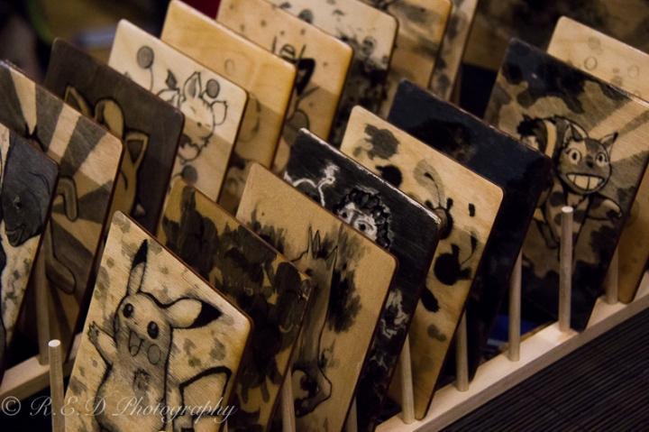 geekedfest 2015 cherryslug woodwork art