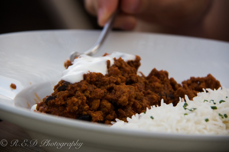 ibiza 2015 mumak restaurant chilli con carne with rice
